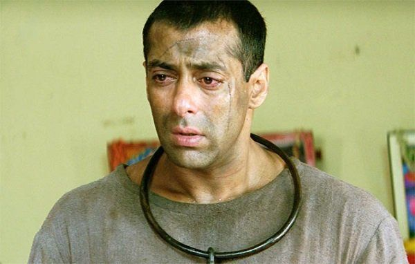 Salman Khan In the film Tere Naam, Salman played the role of tortured inmate.